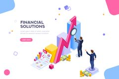Free Financial Research Audit Management Concept Vector Stock Photo - 123896910