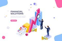Financial Research Audit Management Concept Vector. Financial research concept. Audit management of economic strategy. Currency development, economics corporate royalty free illustration
