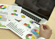 Financial research with charts Royalty Free Stock Photo