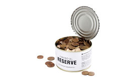 Financial reserve opened Stock Photo