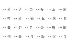 Financial Responsive Vector Icons 2 Stock Photos