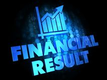 Financial Result Concept on Digital Background. Stock Photos
