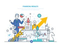 Financial results. Data analysis, financial management report, forecast, business strategy. Financial results. Data analysis, financial management report Stock Photos