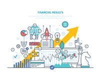 Financial results. Data analysis, financial management report, forecast, market stats. Financial results. Data analysis, financial management report, forecast Stock Photo