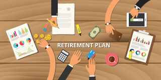 Financial retirement planning  consult preparation. Vector concept Royalty Free Stock Photo