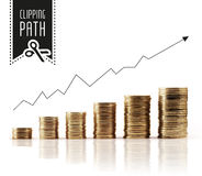 Financial rise with clipping path Royalty Free Stock Photo