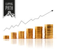 Financial rise with clipping path Stock Images