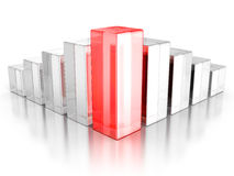 Financial Rising Bar Chart Graph With Reflection. Business Grow Stock Photos