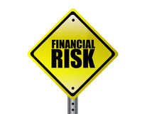 Financial Risk. Yellow Financial Risk street sign concept over a white background Stock Photo