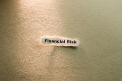 Financial Risk. Picture of words financial risk Royalty Free Stock Photos