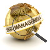 Financial risk management, 3d render. White background Royalty Free Stock Photography