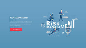 Financial risk management hero banner Stock Photography