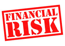 FINANCIAL RISK. Red Rubber Stamp over a white background Stock Photo