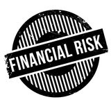Financial Risk rubber stamp. Grunge design with dust scratches. Effects can be easily removed for a clean, crisp look. Color is easily changed Stock Photography