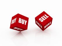 Financial Risk sell and buy Royalty Free Stock Photography