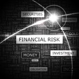 FINANCIAL RISK. Word cloud concept illustration. Wordcloud collage Stock Photo