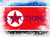 Financial Sanctions On North Korea For Nukes 3d Illustration royalty free stock images