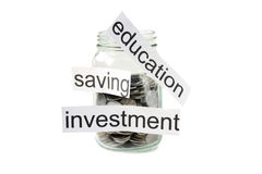 Financial and saving concept Royalty Free Stock Images