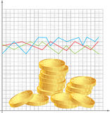 Financial schedule. Financial chart with the trend of Stock Photography