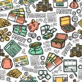 Financial Seamless Pattern Stock Photos