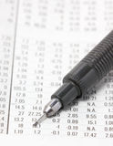 Financial Section With Automatic Pencil. Stock Images