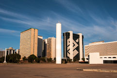Financial Sector of Brasilia. Brasilia, Brazil - June 6, 2015: Buildings of South Banking Sector. All the buildings of the complex are own by national banks of Stock Images