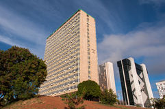 Financial Sector of Brasilia. Brasilia, Brazil - June 6, 2015: Buildings of South Banking Sector. All the buildings of the complex are own by national banks of Royalty Free Stock Images