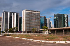 Financial Sector of Brasilia. Brasilia, Brazil - June 6, 2015: Buildings of South Banking Sector. All the buildings of the complex are own by national banks of Stock Photos