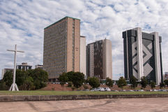 Financial Sector of Brasilia City Stock Images