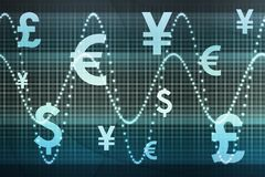 Financial Sector Global Currencies Stock Images