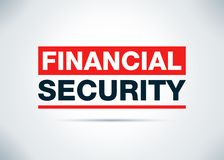 Financial Security Abstract Flat Background Design Illustration stock illustration