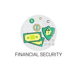 Financial Security Business Banking Icon. Vector Illustration Royalty Free Stock Image