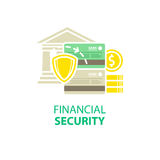 Financial security icon. Icon isolated on white Stock Photography