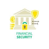 Financial security icon. On white Royalty Free Stock Photos