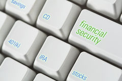 Financial Security Keyboard royalty free stock photo