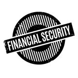 Financial Security rubber stamp. Grunge design with dust scratches. Effects can be easily removed for a clean, crisp look. Color is easily changed Royalty Free Stock Photo
