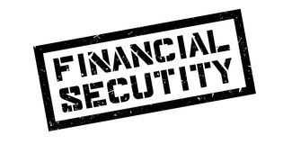 Financial Secutity rubber stamp Royalty Free Stock Images