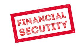 Financial Secutity rubber stamp Stock Image