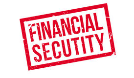 Financial Secutity rubber stamp Stock Photo