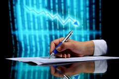 Financial seminar Stock Image
