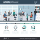 Financial service and business infographic. Financial services, business and management infographic with concept icons and copy space Royalty Free Stock Photo