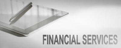 FINANCIAL SERVICES Business Concept Digital Technology. Graphic Concept Stock Image