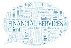 Financial Services word cloud. stock photography