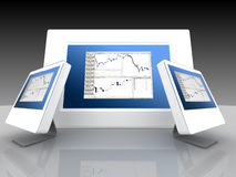 Financial and share markets stock image