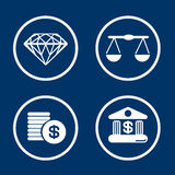 Financial Signs. Vectors and icons set for any use Royalty Free Stock Photo