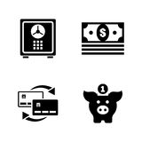 Financial. Simple Related Vector Icons Stock Images
