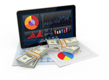 Financial software Stock Image