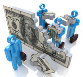 Financial solution stock image