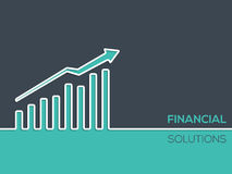 Financial solutions background for businesses with chart. Financial solutions advertising design for businesses with chart Stock Photos