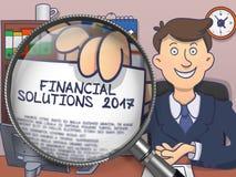 Financial Solutions 2017 through Lens. Doodle Design. Stock Images